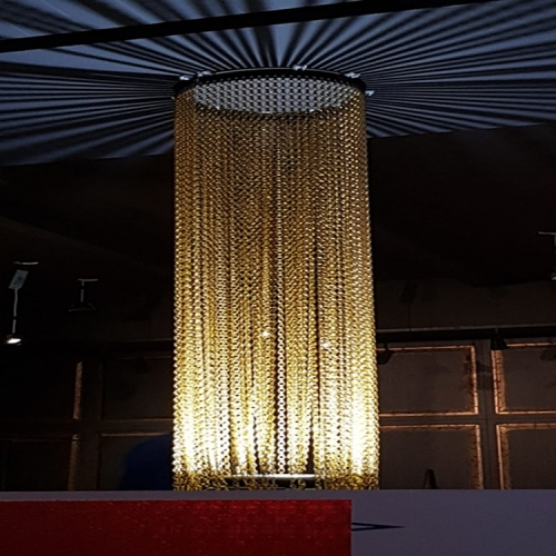 Anodized chain link Curtain /Decorative metal chain link mesh curtain
