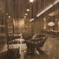 Custom made office Double hook chain link curtain